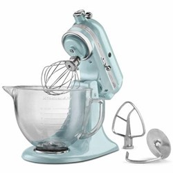 Artisan Series 5-Quart Stand Mixer in Azure Blue with Glass Bowl - KSM155GBAZ