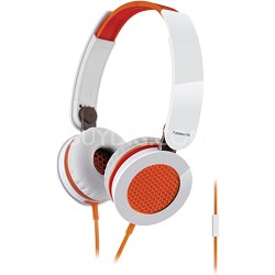 Sound Rush On-Ear Headphones, Orange/White (RP-HXS200M-D)