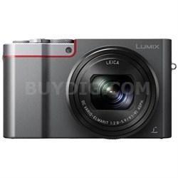 ZS100 LUMIX 4K 20 MP Digital Camera with Wi-Fi - Silver (DMC-ZS100S)