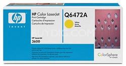 Yellow Print Cartridge for LaserJet 3600 Printers