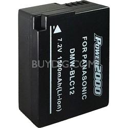 BLC12 Replacement Battery for Panasonic BLC12 (Black)