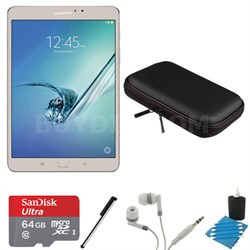 Galaxy Tab S2 8.0-inch Wi-Fi Tablet (Gold/32GB) 64GB MicroSD Card Bundle