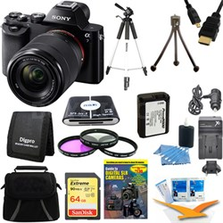 Alpha 7K a7K Digital Camera 64GB SDXC Card Tripod and Battery Bundle