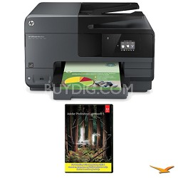 Officejet Pro 8610 e-All-in-One Wireless Color Printer w/ Photoshop Lightroom 5