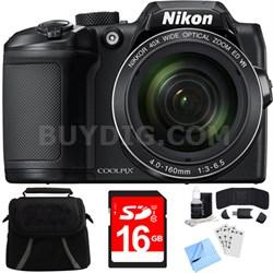 COOLPIX B500 16MP 40x Optical Zoom Digital Camera w/ Built-in Wi-Fi 8GB Bundle