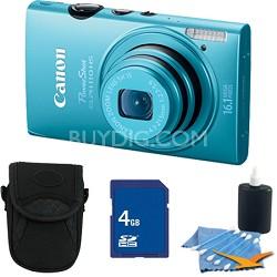 PowerShot ELPH 110 HS 16.1MP Blue Digital Camera 5x Zoom HD Video 4GB Bundle