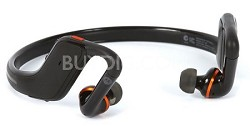 S11-HD Wireless Stereo Bluetooth Headset Black/Orange - Factory Refurbished