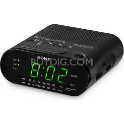 ICF-C218 Black Automatic Time Set AM/FM Clock Radio
