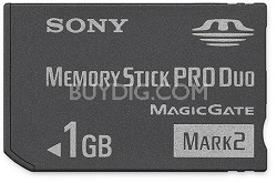 1GB Memory Stick PRO Duo  Mark 2 Media - {MS-MT1G}