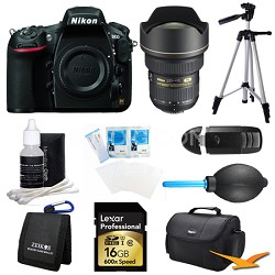 D810 36.3MP 1080p HD DSLR Camera with 14-24mm AF-S Pro Lens Bundle