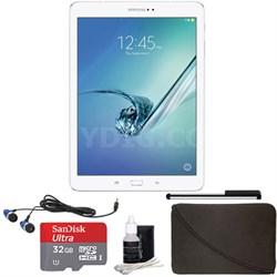 Galaxy Tab S2 9.7-inch Wi-Fi Tablet (White/32GB) 32GB Accessory Bundle