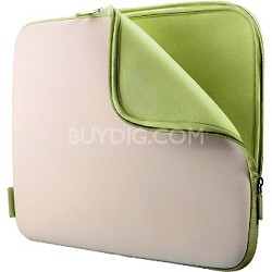 "Neoprene Notebook Sleeve for Notebooks up to 15.4""  Dove/Tarragon"