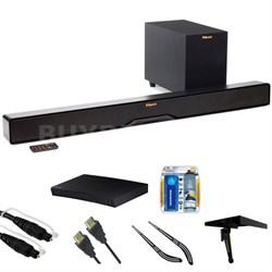 """Reference 2-Way Soundbar w/ Wireless 6.5"""" Subwoofer R4B w/ Blu-ray Player Bundle"""