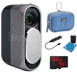 ONE 20.2MP Digital Connected Camera for iPhone & iPad + 64GB Lexar Memory Bundle