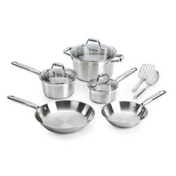 10-Piece Elegance Stainless Steel Cookware Set - C811SA64