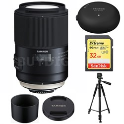 SP 90mm f/2.8 Di VC USD 1:1 Macro Lens for Nikon AFF017N-700 w/ Lens Mount Kit