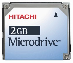 2Gig. HITACHI MicroDrive Kit {W/ PCMCIA Adapter}