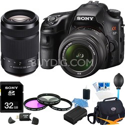 Alpha SLT-A57K 16.1 MP Digital SLR Kit w/ 18-55mm, 55-300 Ultimate Bundle