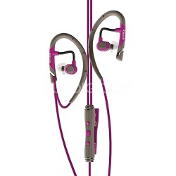 IMAGE A5i Sport In-Ear Headphones with 3-Button Mic and Remote Magenta