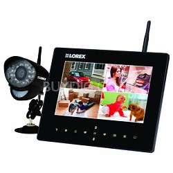 LW2731 Live LCD SD Recording Monitor with Wireless Camera - Black