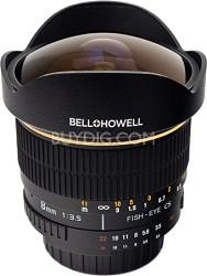 8mm f/3.5 Aspherical Fisheye Lens for Canon DSLR Cameras