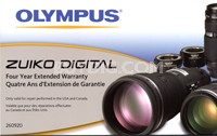 Zuiko Lenses 4 Year Extended Warranty (5 Year Total Coverage)
