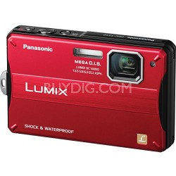 Lumix DMC-TS10R 14.1 MP Digital Camera (Red)