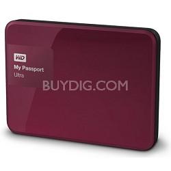 My Passport Ultra 1 TB Portable External Hard Drive, Berry