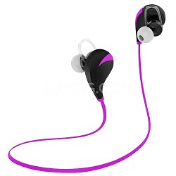 Noise Reduction Wireless Bluetooth Lightweight Sport Headphones w/ Mic - Pink