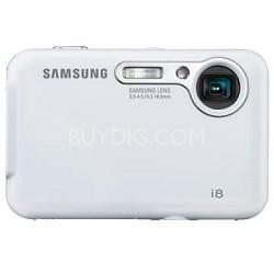 "i8 8MP 2.7"" LCD Digital Camera (White)"