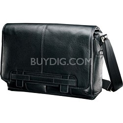 Black Label Leather Messenger Bag Briefcase