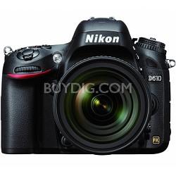 D610 FX-format 24.3 MP 1080p video Digital SLR Camera with 24-85mm Lens