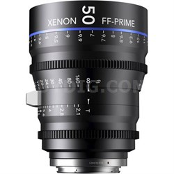 50MM Xenon Full Frame 4K Prime XN 2.1 / 50 Feet Lens for Canon EOS Mounts