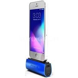 PS-MICRO2C-BLU Flex Micro 2600 mAh Battery Pack for iPhone 5 - Blue