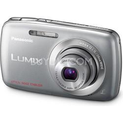Lumix DMC-S1 12MP Compact Silver Digital Camera w/ 720p HD Video
