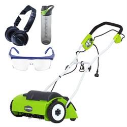 10 Amp 14-inch Electric Dethatcher w/ Safety Bundle