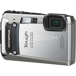 Tough TG-820 iHS 12MP WaterprfShockprf Freezeproof Digital Cam Silver - OPEN BOX