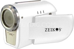 """SDCZ10 3-in-1 Camcorder, Digital Camera and WebCam with 1.5"""" Preview LCD - White"""