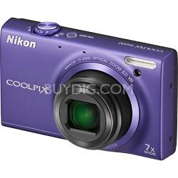 COOLPIX S6100 16MP Violet Digital Camera w/ HD Video