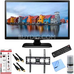 22LF4520 - 22-Inch 1080p Full HD 60Hz LED TV Plus Mount & Hook-Up Bundle