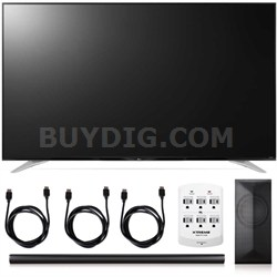 79UF7700 - 79-Inch 240Hz 2160p 4K Smart LED + LAS751M 4.1 Channel Soundbar