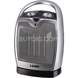 Electric Oscillating Ceramic Space Heater with Adjustable Thermostat