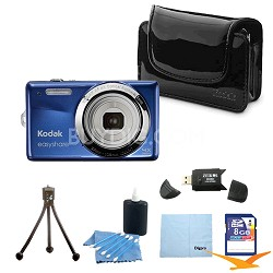 EasyShare M22 14MP  Camera w/ 4X wide-angle Zoom Blue, Case, 8GB Card & More