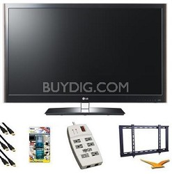 42LV5500 - 42 Inch 1080P 120Hz  LED Smart TV Bundle
