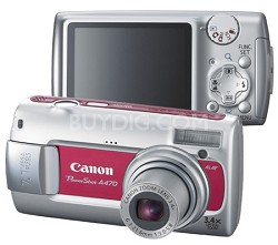 PowerShot A470 Digital Camera (Red)