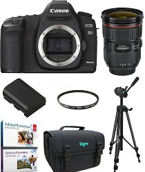 EOS 5D Mark II 21.1MP Full Frame CMOS Digital SLR Body w/ EF 24-70mm f/2.8L Kit