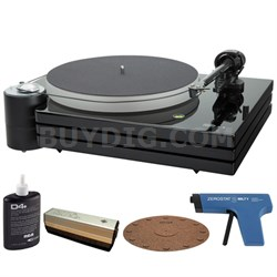 MMF-9.3 2-Speed Audiophile Black Turntable w/ Record Cleaner Kit