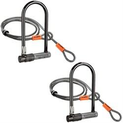 2-Pack KryptoLok Series 2 Standard Bicycle U-Lock w/ 4-Foot Flex Cable