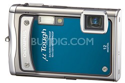 "Stylus Tough 8000 12MP 2.7"" LCD Digital Camera (Blue) - REFURBISHED"