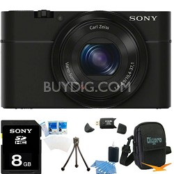 DSC-RX100 20.2 Megapixel, 3.6x zoom, 8GB Bundle